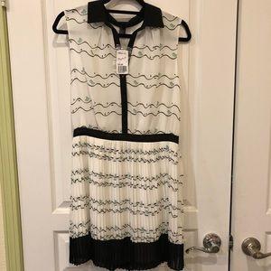 F21 printed collared dress